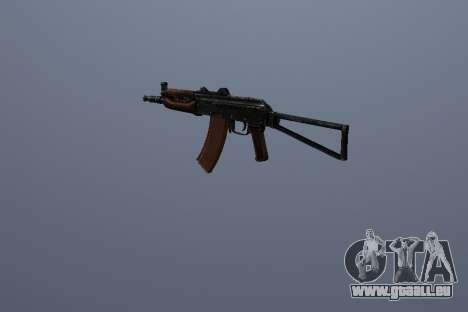 AK-74U pour GTA San Andreas troisième écran