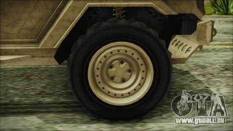 GTA 5 HVY Insurgent Van pour GTA San Andreas sur la vue arrière gauche