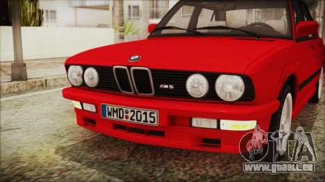 BMW M5 E28 1988 für GTA San Andreas Innenansicht