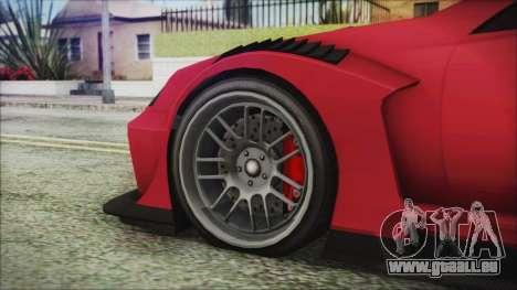 Benefactor Feltzer Super Sport für GTA San Andreas zurück linke Ansicht