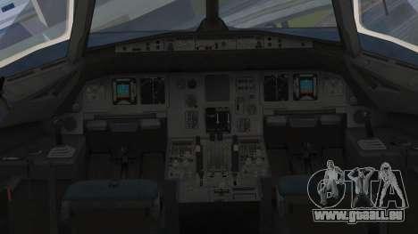 Airbus A320-200 Etihad Airways Abu Dhabi Grand für GTA San Andreas rechten Ansicht