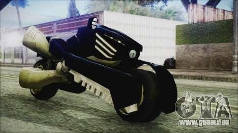 FF7AC Bike pour GTA San Andreas sur la vue arrière gauche