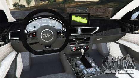 GTA 5 Audi RS7 2016 droite vue latérale