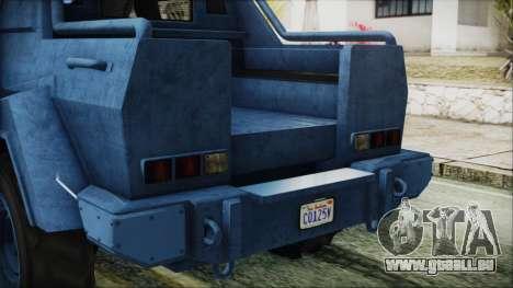 GTA 5 HVY Insurgent Pick-Up IVF pour GTA San Andreas vue de côté