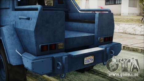 GTA 5 HVY Insurgent Pick-Up IVF für GTA San Andreas Seitenansicht