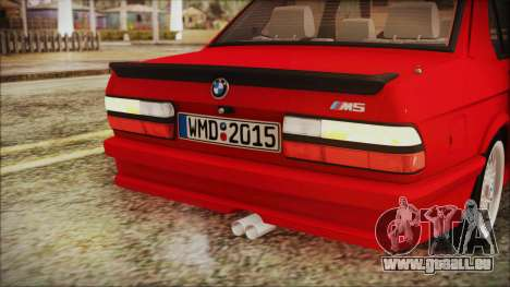 BMW M5 E28 1988 für GTA San Andreas obere Ansicht