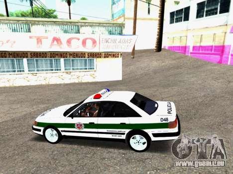 Audi 100 C4 1995 Police pour GTA San Andreas sur la vue arrière gauche