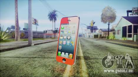 iPhone 5 Red pour GTA San Andreas