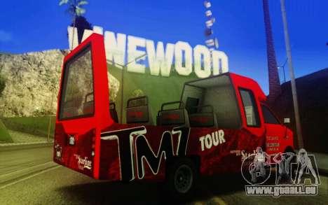 TMZ Tourbus pour GTA San Andreas sur la vue arrière gauche
