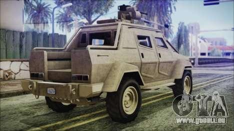GTA 5 HVY Insurgent Pick-Up pour GTA San Andreas laissé vue
