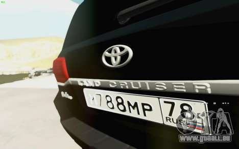 Toyota Land Cruiser 200 2016 für GTA San Andreas Rückansicht