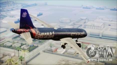 Airbus A320-200 Etihad Airways Abu Dhabi Grand pour GTA San Andreas laissé vue