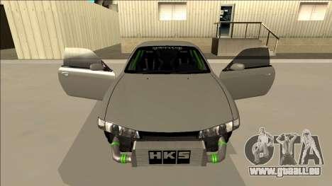 Nissan Silvia S14 Drift Monster Energy für GTA San Andreas obere Ansicht