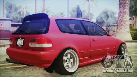 Honda Civic EG6 Hellaflush für GTA San Andreas linke Ansicht