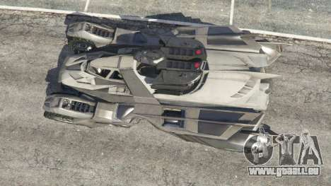 GTA 5 Batmobile Mk2 v0.9 Rückansicht