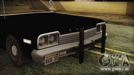 Dodge Monaco 1974 LVPD IVF pour GTA San Andreas vue intérieure