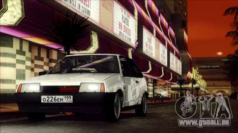 VAZ 2108 pour GTA San Andreas vue arrière
