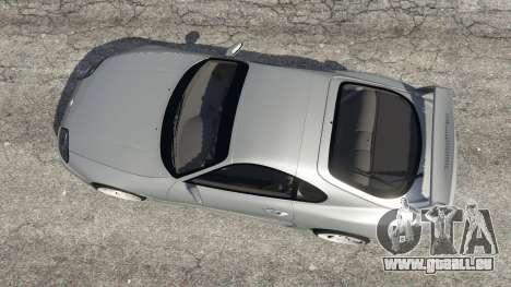 GTA 5 Toyota Supra JZA80 v1.1 vue arrière