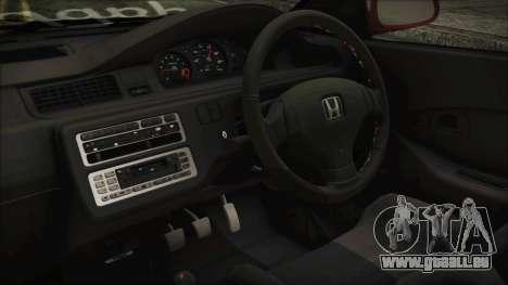 Honda Civic EG6 Hellaflush für GTA San Andreas rechten Ansicht