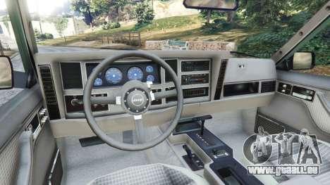 GTA 5 Jeep Cherokee XJ 1984 [Beta] arrière droit vue de côté