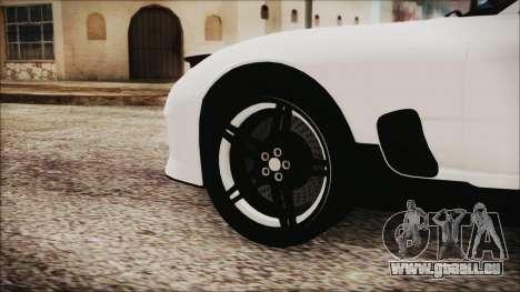 Mazda RX-7 Enhanced Version pour GTA San Andreas sur la vue arrière gauche