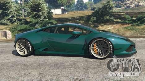 GTA 5 Lamborghini Huracan [LibertyWalk] v1.1 linke Seitenansicht