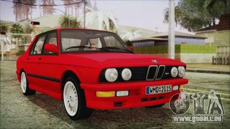 BMW M5 E28 1988 für GTA San Andreas