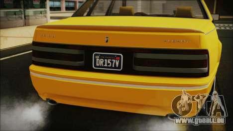GTA 5 Albany Primo Custom Bobble Version pour GTA San Andreas vue arrière