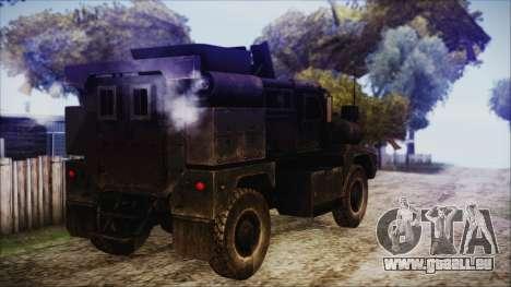 Cougar MRAP 4x4 pour GTA San Andreas laissé vue