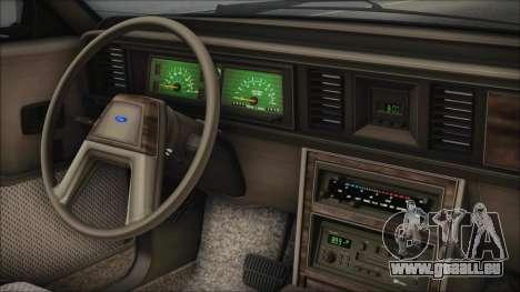 Ford LTD LX 1986 pour GTA San Andreas vue de droite
