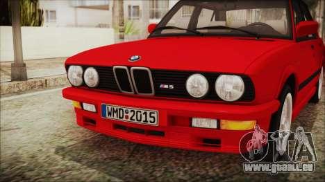 BMW M5 E28 1988 für GTA San Andreas Rückansicht