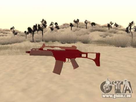 Noël G36c camo pour GTA San Andreas