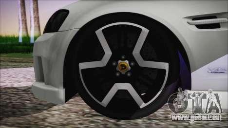 Holden Commodore SS Ute 2012 pour GTA San Andreas sur la vue arrière gauche
