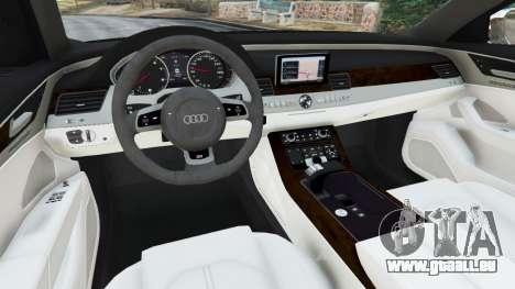 GTA 5 Audi S8 Quattro 2013 hinten rechts