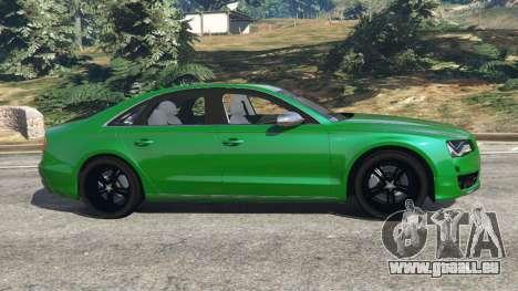 GTA 5 Audi S8 Quattro 2013 linke Seitenansicht