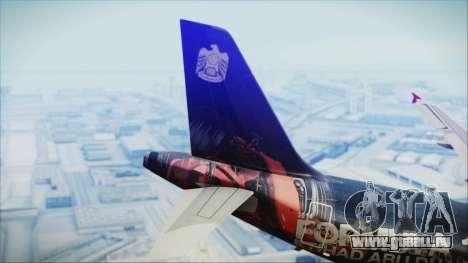 Airbus A320-200 Etihad Airways Abu Dhabi Grand für GTA San Andreas zurück linke Ansicht