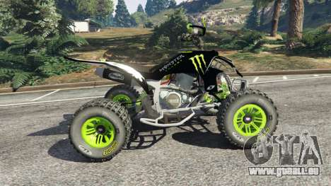 GTA 5 Yamaha YZF 450 ATV Monster Energy linke Seitenansicht