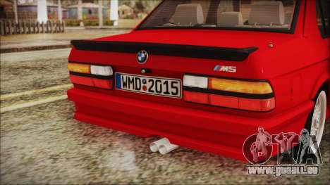 BMW M5 E28 1988 für GTA San Andreas Seitenansicht