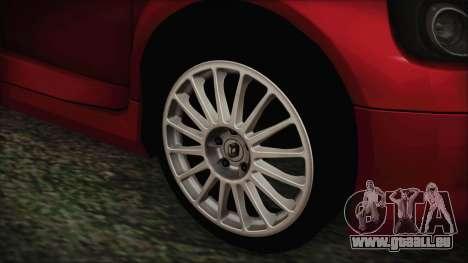 Renault Clio v6 Tunable pour GTA San Andreas sur la vue arrière gauche
