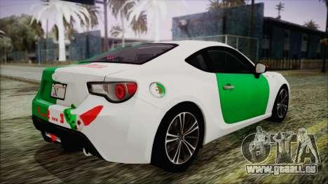 Toyota GT86 (ZN6) 2012 HD Algeria PJ pour GTA San Andreas salon