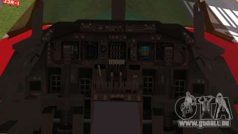 Boeing 747-100 Merry Christmas and Happy NY für GTA San Andreas Rückansicht