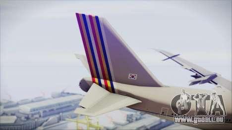 Boeing 747-48E Asiana Airlines pour GTA San Andreas sur la vue arrière gauche