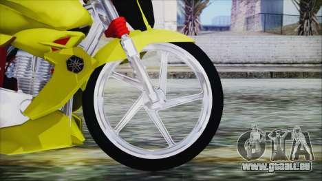 Yamaha Tuning Full Cromo pour GTA San Andreas sur la vue arrière gauche