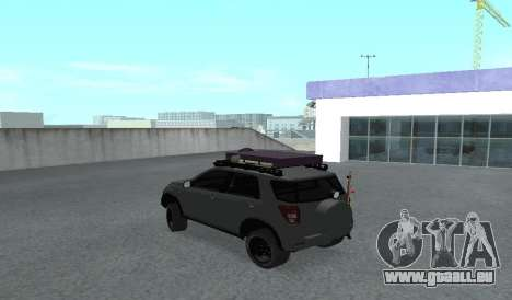 Toyota Terios 2009 OFF-ROAD MUD-TERRAIN pour GTA San Andreas vue de droite