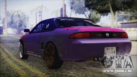 Nissan Silvia S14 pour GTA San Andreas laissé vue