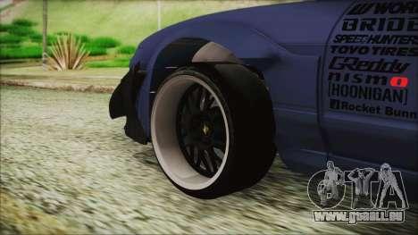 Nissan 180SX Rocket Bunny Edition pour GTA San Andreas sur la vue arrière gauche