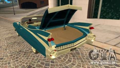Cadillac Eldorado Biarritz 1959 für GTA San Andreas Rückansicht