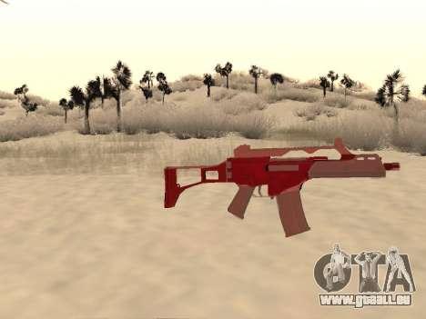 Noël G36c camo pour GTA San Andreas troisième écran