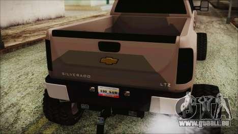 Chevrolet Silverado Triple Door für GTA San Andreas Rückansicht