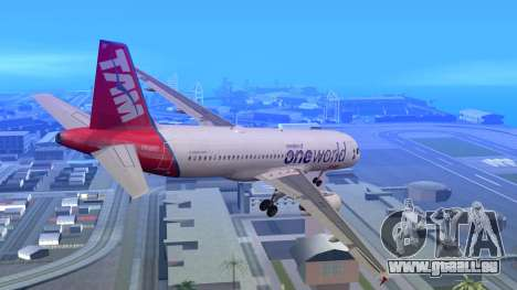 Airbus A320-200 TAM Airlines Oneworld für GTA San Andreas linke Ansicht